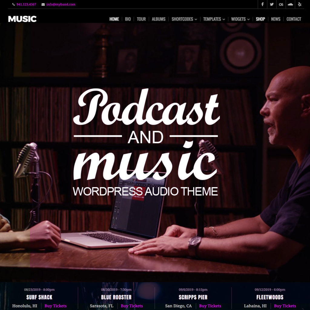 wordpress audio theme